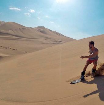 Sandboard en la Duna Cerro Blanco